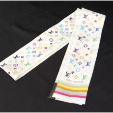 louis vuitton multicolor monogram discontinued louis vuitton discontinued color white multicolor twilly monogram bandeau multi color scarf