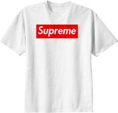 shop supreme tshirt cotton t shirt by sadboise2003 print all me - Supreme Tee Png
