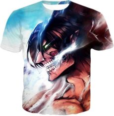 attack on titan eren titan form full body attack on titan titan form eren yeager white t shirt pusont store