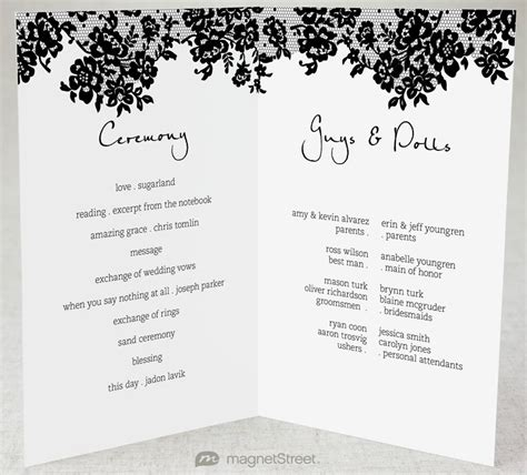 Wedding Program Template Half Fold.html