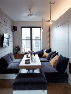 salas modernas 2018 pequenas bogota 101 fotos de decoraci 243 n de salas peque 241 as y modernas top 2019 microapartamento dise 241 o de