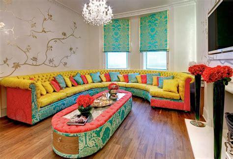 cozy living room designs colorful sofas