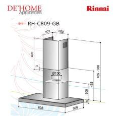 rinnai kitchen rinnai kitchen chimney range rh c809 gb de home appliances