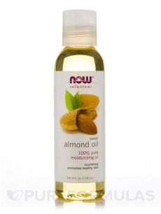 now solutions almond oil now 174 solutions sweet almond 4 fl oz 118 ml