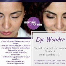 eye wonder monat before and after monat all brow and lash serum eye