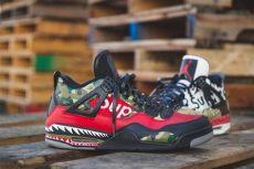 bape x supreme easy to use stencils to customize shoes - Supreme X Bape Shoes
