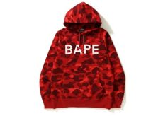 bape hoodie black and red bape color camo pullover hoodie