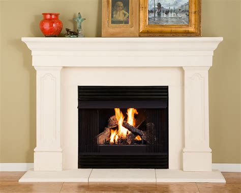 harper thin cast stone fireplace mantel kit ebay