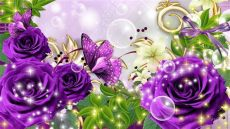 sparkle rose wallpaper glitter flower wallpapers wallpaper cave