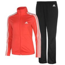 adidas womens back 2 basics 3 stripes tracksuit sports elastic bottoms zip top ebay - Adidas Tracksuit Bottoms Girls