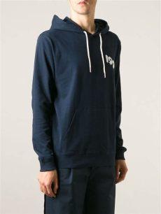 lyst soulland back print hoodie in blue for - Soulland Hoodie