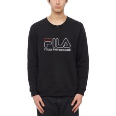 gosha rubchinskiy x fila fila sweatshirt from the s s2017 gosha rubchinskiy collection in black
