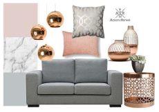 blush grey copper wallpaper image result for blush gray copper living rooms copper and grey living room gray color