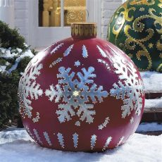 outdoor christmas ball ornaments outdoor lighted ornaments