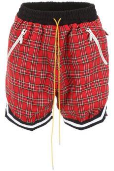 rhude shorts rhude rhude check bermuda shorts 10799442 italist