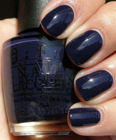 dark blue opi polish the shade of midnight blue opi road house blues nail manicure nails blue