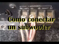 como conectar un subwoofer a un minicomponente como conectar un subwoofer