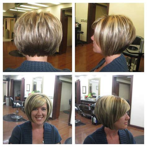 Short Stacked Bob Haircuts With Bangs Let S Do Hair Pinterest.html