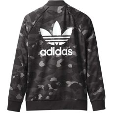 bape x adidas track jacket black s bape x adidas track top jacket black cinder s fashion clothes tops on carousell
