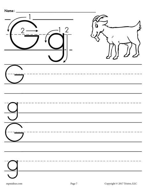 free printable letter handwriting worksheet supplyme