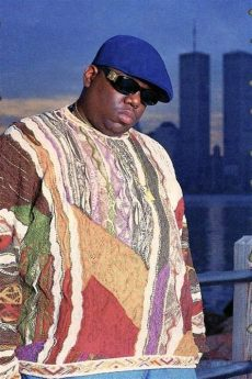 biggie smalls wearing coogi sweater designer out streetwear in as hip hop forward the beacon mcla