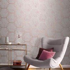 blush grey copper wallpaper aqueous geo quartz wallpaper pink and grey wallpaper room wallpaper sophisticated decor