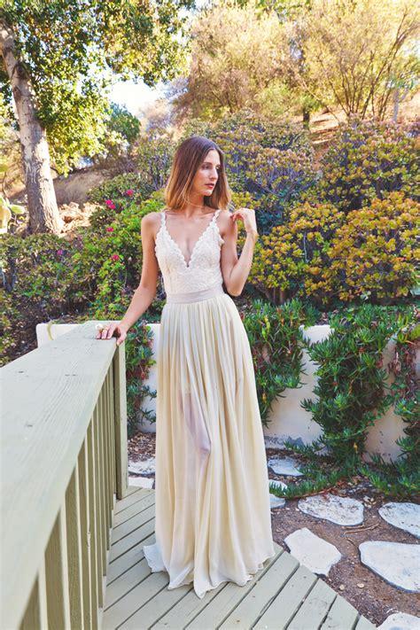 bianca 2 piece wedding dress bohemian wedding dresses