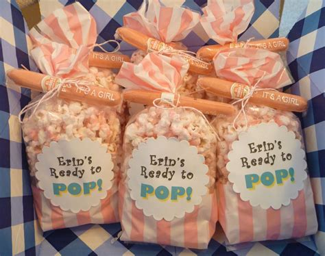 salty sweet delicious ready pop popcorn baby shower