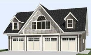 4 car story garage plan 2402 1 50