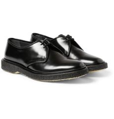 adieu shoes sizing lyst adieu type 1 polished leather crepe soled derby shoes in black for