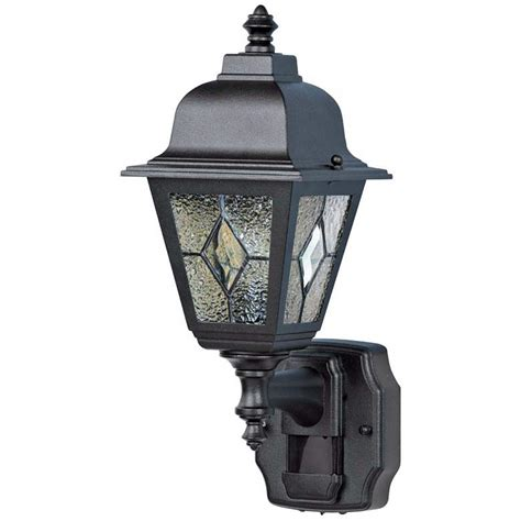 classic cottage black motion sensor outdoor wall light