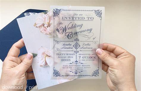 diy translucent wedding invitation vintage charm