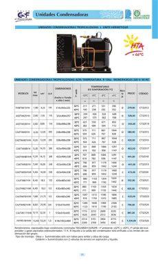 tabla tecnica de compresores unidades condensadoras hermeticas gsf by distribuciones casamayor issuu