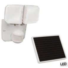 defiant 180 degree outdoor motion activated solar powered white led security floodlight flood - Defiant Solar Motion Security Light Manual