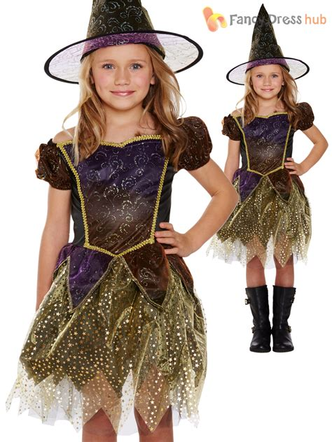 age 4 8 girls witch costume hat halloween