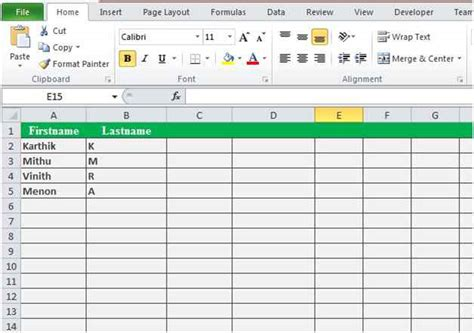 store html table data excel spreadsheet vbscript