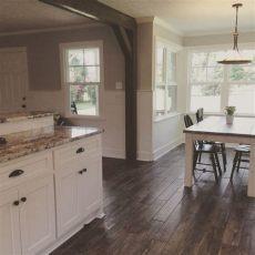 faux wood tile in kitchen kitchen remodel farmhouse style shiplap cold