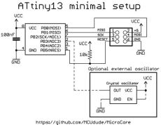 attiny13a circuit github mcudude microcore an optimized arduino hardware package for attiny13