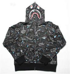 bape shark hoodie glow in the dark a bathing ape bape space camo zip shark hoodie black glow in the cool ebay