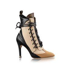 louis vuitton shoes women boots bomb product of the day louis vuitton s laureate monogram canvas trim half leather boots
