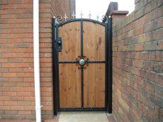 metal framed wooden gates uk aber wrought iron steel frame wooden single gate abertridw
