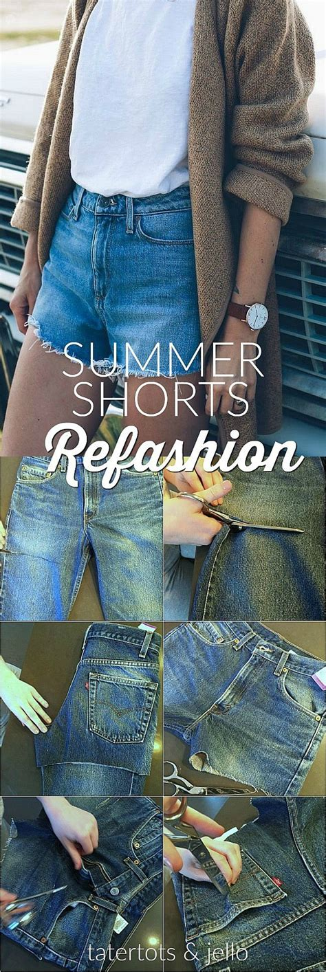 summer shorts refashion thrifted mens jeans