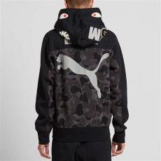 puma x bape shark hoodie black camo x bape shark hoody black camo end