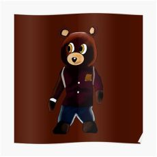 yeezy bear poster dropout yeezy posters redbubble