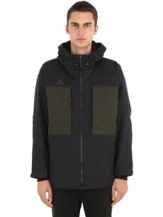 nikelab acg jacket black nike nikelab acg anorak jacket in black for lyst