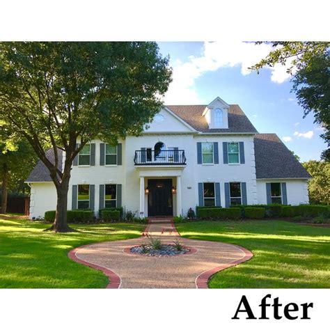 painted brick exterior transformation texas brick painted sherwin