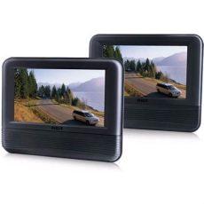 pantallas para carro rca combo rca doble pantalla de 7 lcd dvd cabecera de auto 1 199 00 en mercado libre