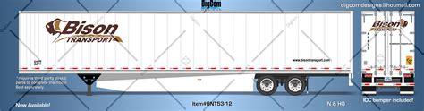 digcom designs 53 bison transport dry van trailer