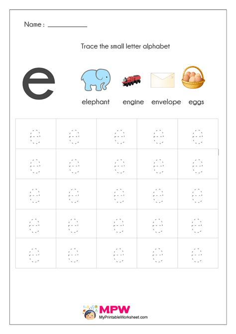 small letter alphabets tracing writing worksheets printable
