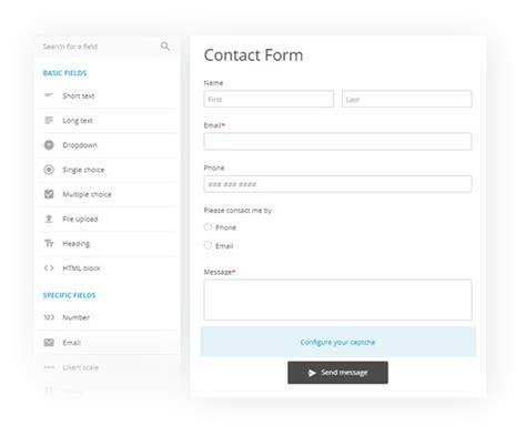 web form builder database free 123formbuilder